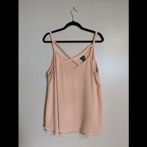 Torrid peach blouse
